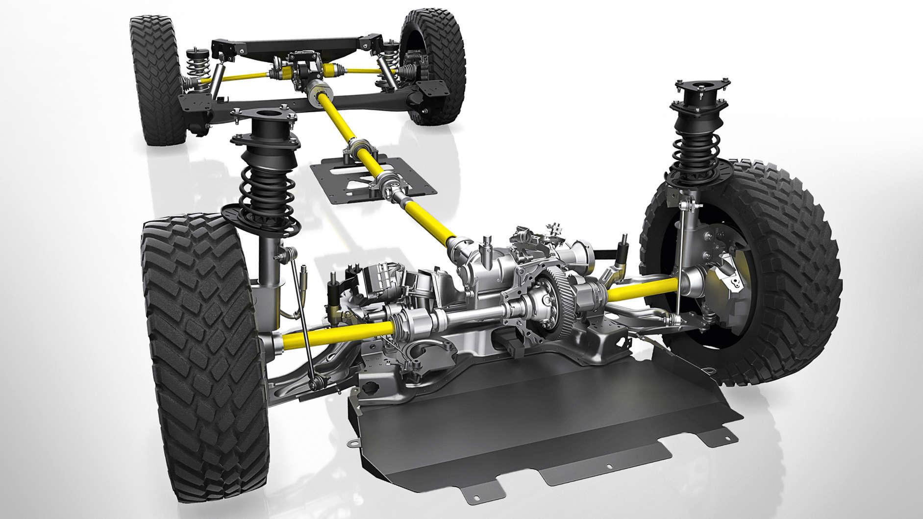 Opel Vivaro, трансмісія, конструкція повного приводу