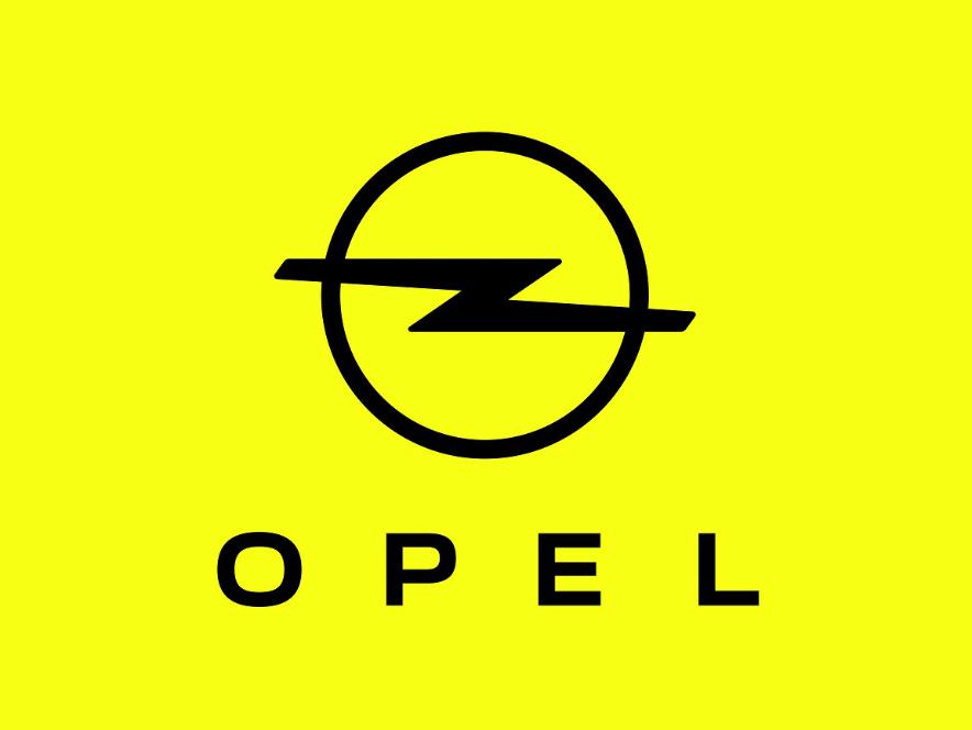 Логотип Opel нажовтому тлі
