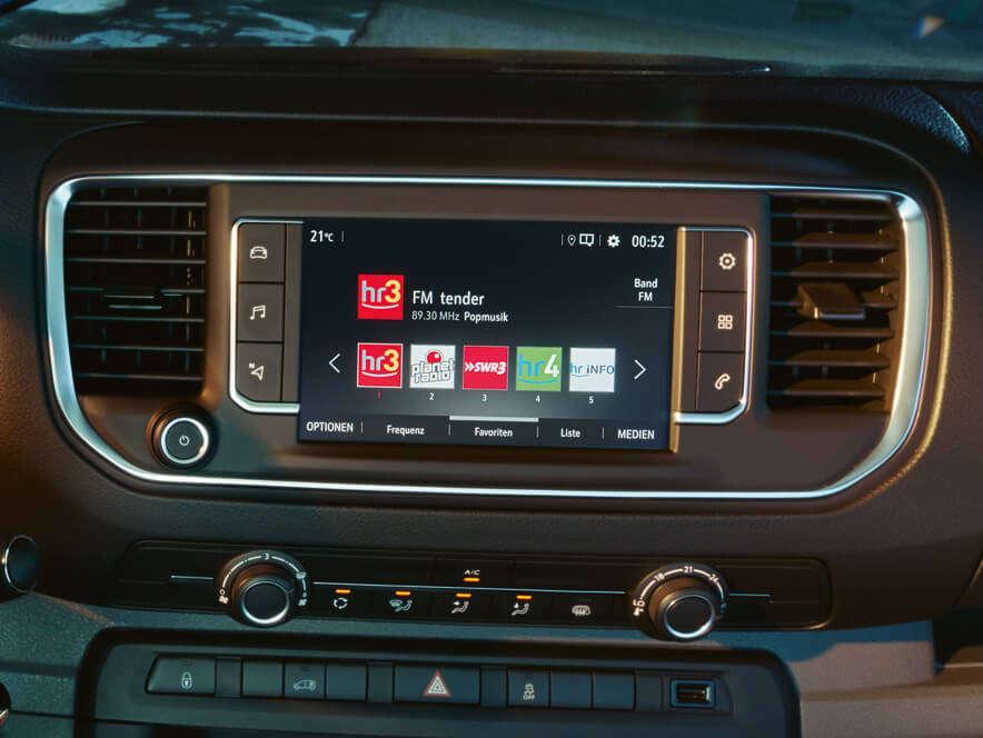 Opel, Vivaro, інформаційно-розважальна система